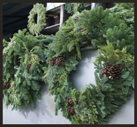 Decorated Wreaths made onsite